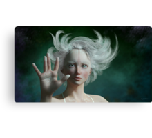 White Faun - mystery fairy Canvas Print