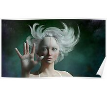 White Faun - mystery fairy Poster