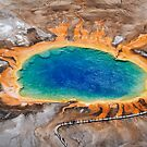 Grand Prismatic Spring - Aerial in Yellowstone by A.M. Ruttle