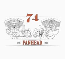 Panhead Motor in Orange/Black Kids Clothes