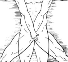 Shy Vitruvian Sticker