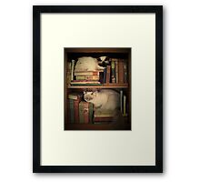 Library Cats Framed Print