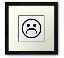 Sad Boy Face [Black] Framed Print