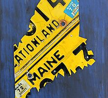 Maine License Plate Map by designturnpike