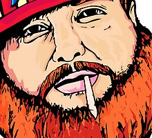 Action Bronson Illustration 1 - Original Print - benmcArts by Ben McCarthy