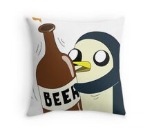 Gunter Loves Beer Throw Pillow