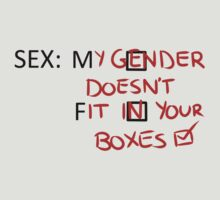 Gender Boxes T-shirt by robot-hugs