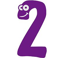 Number 2 two comic cartoon funny face by Style-O-Mat