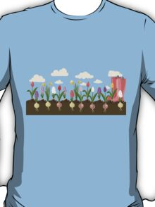 Holiday background with colorful flowers T-Shirt