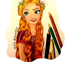 Tangled Rapunzel Princess Design by LittleMizMagic