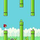 Flangry birds flappy bird vs angry birds by vinnie107