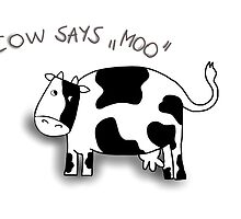 Cow says moo by ywanka