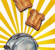 Toast and Toaster by KellyGilleran