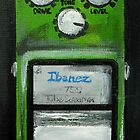 Ibanez Tube Screamer Acrylics On Canvas Board by JamesPeart