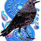 Vintage French Tarot Symbol & Raven by Zehda