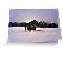 Moonlit Winter Wellspring Greeting Card