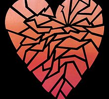 Ombre Broken Heart by Eileen Garcia