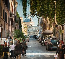 Busy Street in Rome by Witold Skrzypiński