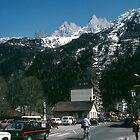 Street of Chamonix France 198404270076 by Fred Mitchell