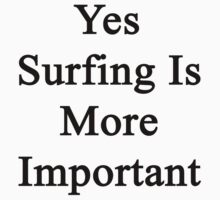 Yes Surfing Is More Important  by supernova23