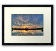 West Pond Framed Print