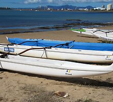 Dragon Boats, Beach, Townsville. Far Nth. Qld. Aust. by Rita Blom