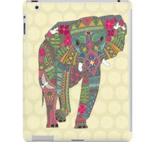 painted elephant straw iPad Case/Skin