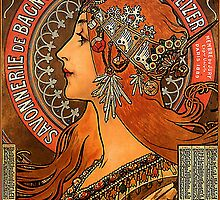 Savonnerie de Bagnolet by Alphonse Mucha (Reproduction) by Roz Abellera