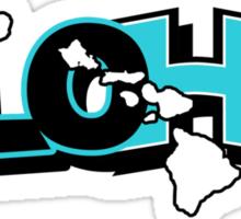 ALOHA blue Sticker