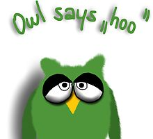 Owl says hoo by ywanka