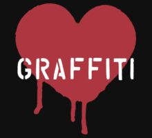 I Heart Graffiti - White/Red by tiffanydow