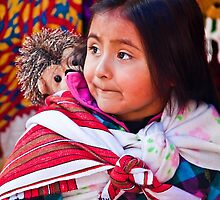 Guatemala. Chichicastenango. Portrait of a little Mayan Girl. by vadim19