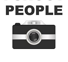 I Shoot People Black Camera by kwg2200