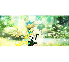 Forest Fox Girl Photographic Print