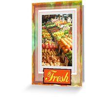 Farm Fresh Market Greeting Card