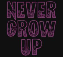 Never Grow Up (purple) by littleswag