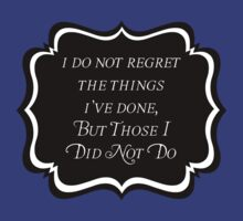 I Do Not Regret by ObliqueOptimism