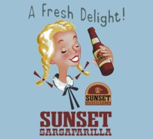 Sunset sarsaparilla T-Shirts by Axwel