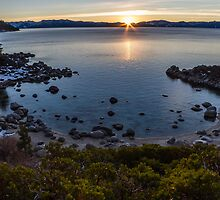 The Sun Sets at Secret Cove by Richard Thelen