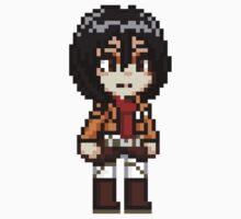 Attack on Titan - Mikasa Ackerman Pixel by geekmythology
