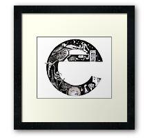 The letter 'e' Framed Print