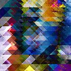 Colorful Geometric Texture by Phil Perkins