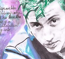 Arctic Monkeys - Alex Turner - Arabella - Watercolour by RockandRoll Maker