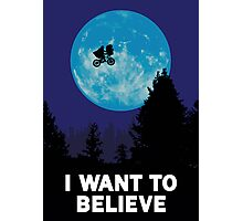 The X-Files: I Want to Believe Poster E.T Extra Terrestrial Spoof Photographic Print