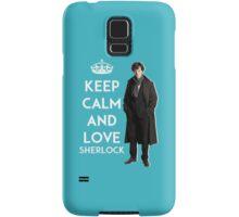 KEEP CALM AND LOVE SHERLOCK - ACQUA BLUE Samsung Galaxy Case/Skin