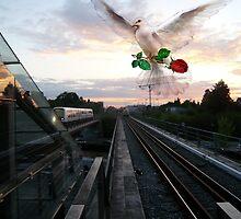 Spirit at the metro station by HeklaHekla