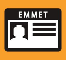 EMMET nametag (LEGO-the movie) by cattocc