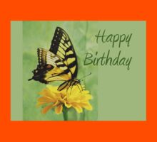 Happy Birthday - Eastern Tiger Swallowtail Butterfly Kids Clothes