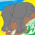 Animal: Elephant/(imaginary) -(020314)- Digital artwork/MS Paint by paulramnora
