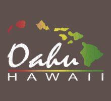 Oahu Hawaiian Islands (vintage distressed designs) Kids Clothes